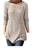 Long-Pullover mit Pailletten