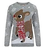 Bambi Weihnachtspullover Frauen 3D Schal