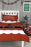 Hive Santa's Little Helper Elfie Weihnachts-Bettwäsche, Bettbezug und Passender Kissenbezug,...