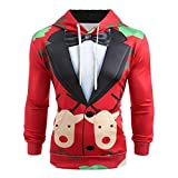 KEERADS Herren Kapuzenpullover Pullover 3D Druck Weihnachtspullover Sweatjacke Hoodie Sweatshirt...