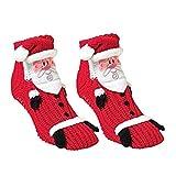 XONOR 1 Paar Weihnachts-Socken 3D Tier Anti-Rutsch-Haushaltsocken Winterschuhe für Frauen