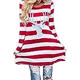 Weihnachtspullover Damen Weihnachtskleid Mädchen Pullover Kleider Pulli Kleidung Pullikleid Hoodies...