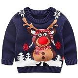 Kinder Mädchen Jungen Weihnachtspullover Strickjacken Gestrickt Strickpullover Herbst Winter...