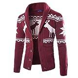 Elecenty Herren Weihnachten Sweatshirt Sweater Strickjacke Cardigan Christmas Männer Xmas Knitwear...