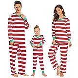MAXMODA Streifen Print Flanell Weihnachten Passende Familie Pyjamas