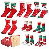 Fixget Wintersocken, 8 Pairs Soft Warm Socken für die Familie, Kids Winter Socken Frauen Männer...