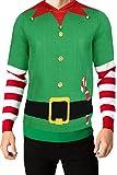 Threadbare Herren 'Buddy Overhead' Kapuzenpullover Herren Pinguin Rentier Santa Weihnachten Grün L