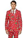 OFFSTREAM Weihnachtsanzüge für Herren in Verschiedenen Drucken - besteht aus Sakko, Hose und...