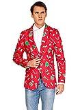 OFFSTREAM Weihnachtsjacke für Herren in Verschiedenen Drucken - besteht aus Sakko, Hose und...