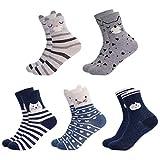 Lantch 6 Paar Unisex Weihnachtssocken Damen/Herren Christmas Socks Mix Design Weihnachtsmotiv...