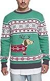 Urban Classics Herren Sausage Dog Christmas Sweater Sweatshirt, Mehrfarbig...