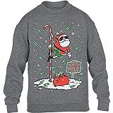Dancing Santa North Pole Weihnachtspullover Kinder Pullover Sweatshirt 134-146cm Rot