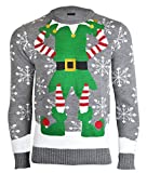 Herren Damen Unisex Christmas Reindeer Gingerbread Man Neuheit Strick Jumers (Mens M (Ladies 40-42),...