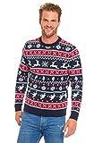 You Look Ugly Today Herren Weihnachtspullover Sweater Pullover Pulli Xmas Sweatshirt Rentier...