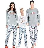 AIDEAONE 2 Stück PJS Sets für Mama Langarm Nachtwäsche Pyjama Set Weihnachten Nachtwäsche L