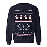 Kinder Schneemann Weihnachts-Sweatshirt - Dunkelblau (M Age 7-8)
