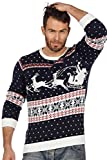 Weihnachtspullover Schlitten Ugly Christmas Sweater Pullover Weihnachten S-XXL