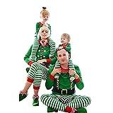 Riou Weihnachten Set Baby Kleidung Pullover Pyjama Outfits Set Familie Frohe Weihnachten Streifen...