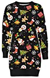 Frauen Christmas Reindeer Printed lange Sleeve weihnachten Sweatshirt Pullover Kleid 36-50 (40-42,...