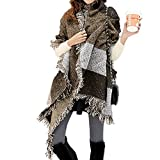 FENTI Damen Maedchen Langer Schal 250cm*65cm Deckenstoffschaln Schalcape Winter Schal mit Fransen...