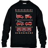 Green Turtle T-Shirts Kids Toller Feuerwehr Weihnachtspullover Kinder Pullover Sweatshirt L 134/146...