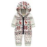 Bebone Baby Weihnachtspullover Jungen Strampler Mädchen Overall (12-18 Monate/80cm, Rentier)