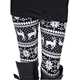 Leggings damen Kolylong Frauen Stretchy Drucken Weihnachten Leggings Herbst Winter Warm Thermo...