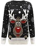 Weihnachtspullover, für Jungen und Mädchen, für Kinder von 3 bis 12 Jahren Gr. 11-12 Jahre, Black...