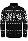 !Solid Norwin Herren Weihnachtspullover Norweger-Pullover Winter Strickpullover Troyer Grobstrick...