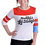 Suicide Squad Harley Quinn Longsleeve Langarm Pullover rot weiß - L