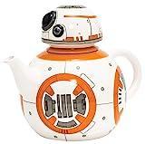 Star Wars 21654 - BB-8 Teekanne in Keramik mit Deckel in Geschenkverpackung, 19 x 12 x 15.5 cm