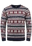 !Solid Winno Herren Weihnachtspullover Norweger-Pullover Winter Strickpullover Grobstrick Pullover...