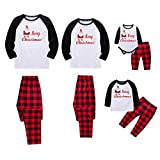 Baywell Weihnachts Schlafanzüge Familie Pyjamas Set Familien Outfit Mutter Vater Kind Baby...