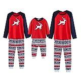 Baywell Weihnachten Familie Pyjamas Set, Deer Gedruckt Nachtwäsche Nachtwäsche Homewear für...