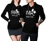 Mr. & Mrs. Maus 2 personalisierte Hoodies mit Wunschdatum im SET Partner Pullover Pärchen Pulli...