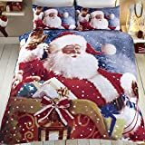 Tony's Textiles - Bettwäscheset mit Deckenbezug - Weihnachtsmann und Schlitten - Weihnachtsmann -...