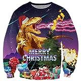 Bfustyle 3d hässliches Weihnachtsweihnachten-Sweatshirt Freizeit-Reise-Sweatshirt