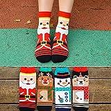 Veewon Mode Frau Damen Neuheit Spaß Weihnachten Socken Baumwolle Sock New Year 4 Paar Pack