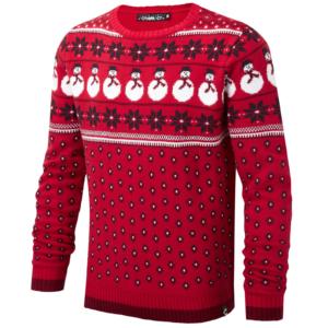Conspiracy Herren Damen Schneemann Weihnachts Pullover Jack Jacquard Top