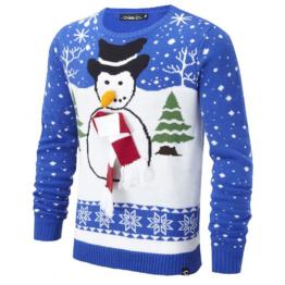 Unisex Schneemann Weihnachts Pullover Conspiracy Frosty Herren Damen Top
