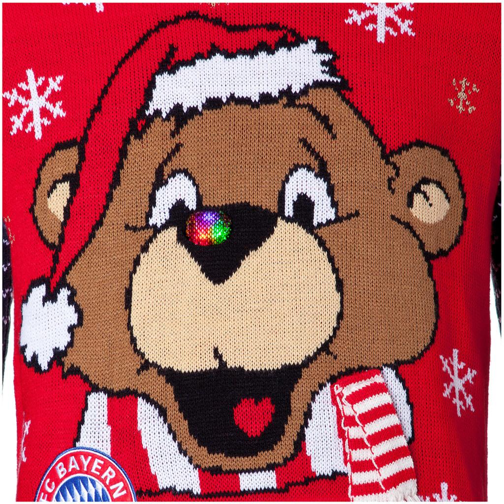Fc Bayern Tannenbaum.Fußball Weihnachtspullover Fc Vereinspullover Mit Weihnachtsmotiv