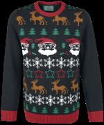 Black Santa Weihnachtspullover