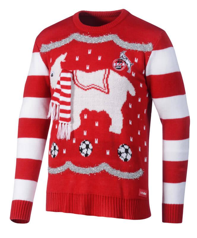 Fußball Weihnachtspullover ⚽ FC Vereinspullover mit