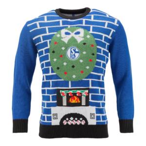 FC Schalke Weihnachtspulli Kamin