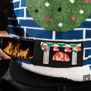 FC Schalke Christmas Sweater Kamin
