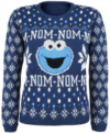 Sesamstraße Cookie Monster - Christmas Knit Jumper