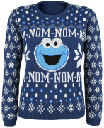 Sesamstraße Cookie Monster - Christmas Knit Jumper