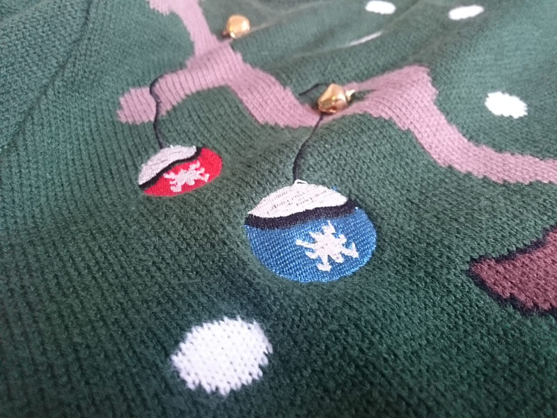 Weihnachtspullover Damen Material