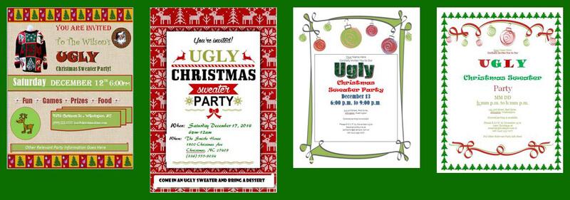 Hässlichen Pullover Party Einladungen