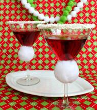 Martini Glas dekorieren